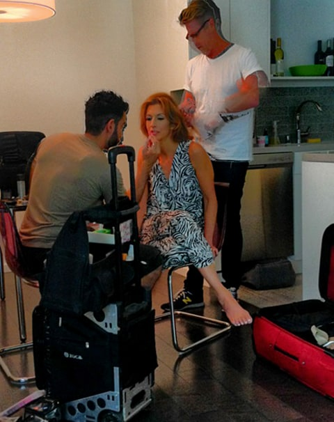 Alysia Reiner getting ready