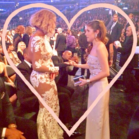 Anna Kendrick and Beyonce Grammy Awards 2014