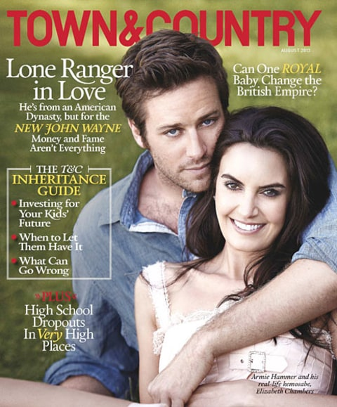 armie hammer and wife town and country cover