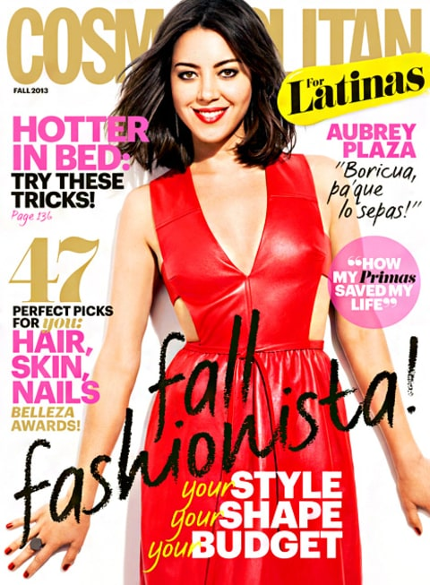 Aubrey Plaza Cosmo for Latinas Cover