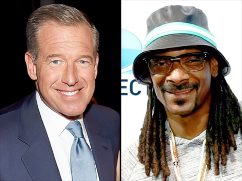 Brian Williams and Snoop Dogg
