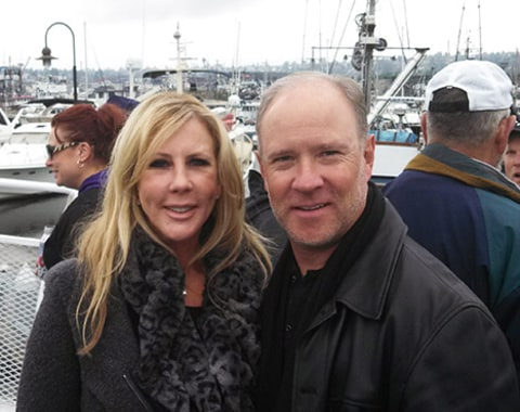 Brooks Ayers Vicki Gunvalson on a dock