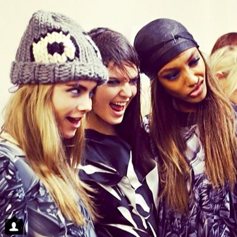 Cara Delevingne, Kendall Jenner and Jourdan Dunn
