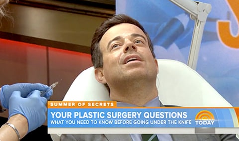Carson Daly getting Botox on the Today show