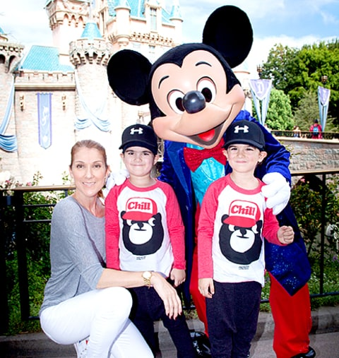 Celine Dion and twins