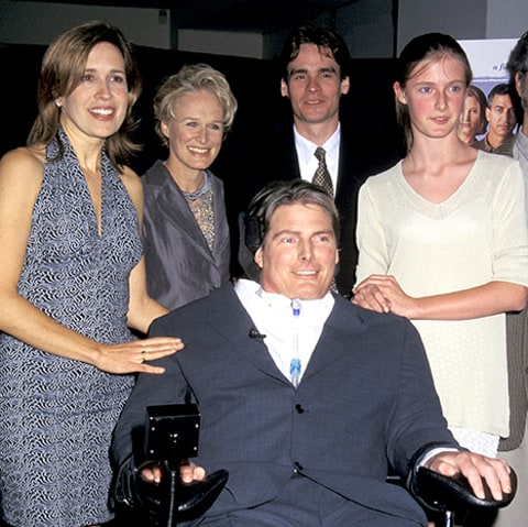Dana Reeve, Glenn Close, Robert Sean Leonard, Alexandra Reeve and Christopher Reeve