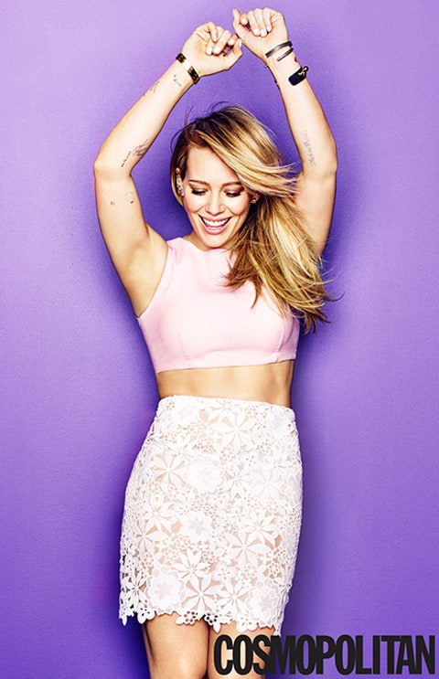 hilary duff in cosmo