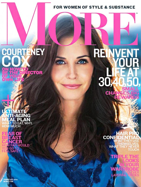 Courteney Cox More Magazine Cover