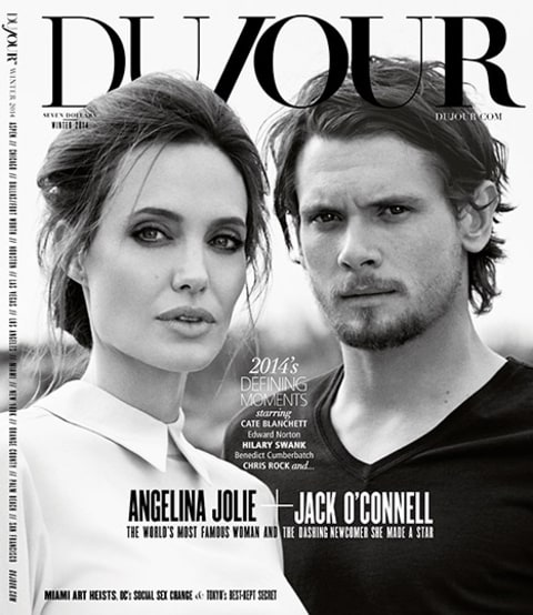Angelina Jolie and Jack O'connell cover