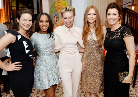 Darby Stanchfield and Scandal cast