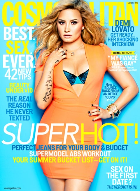 Demi Lovato Cosmopolitan Cover August 2013