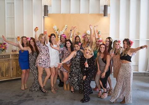Desiree Hartsock shower group shot