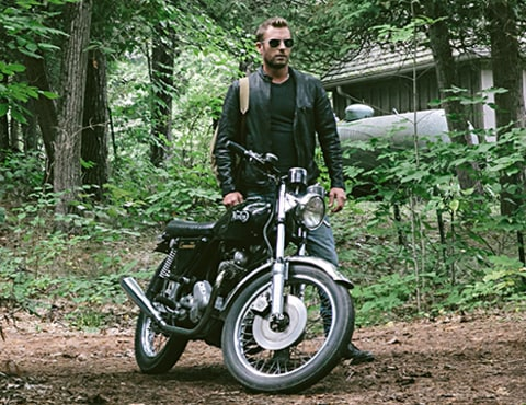 Dierks Bentley with bike