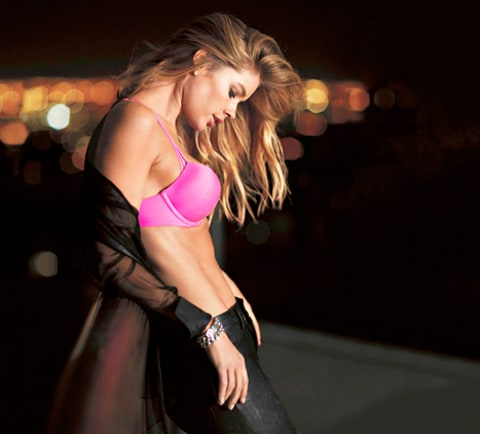 Doutzen Kroes Pink Bra Victoria's Secret