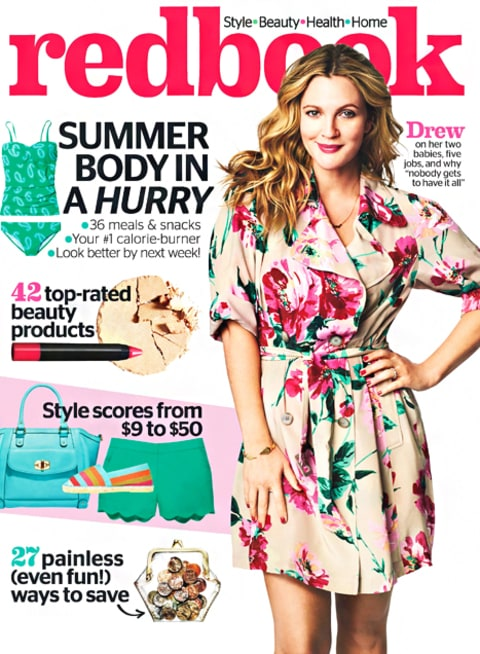 Drew Barrymore Redbook Cover