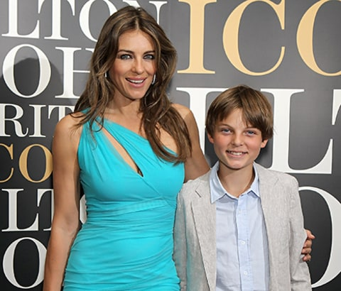 Elizabeth Hurley and her son Damian