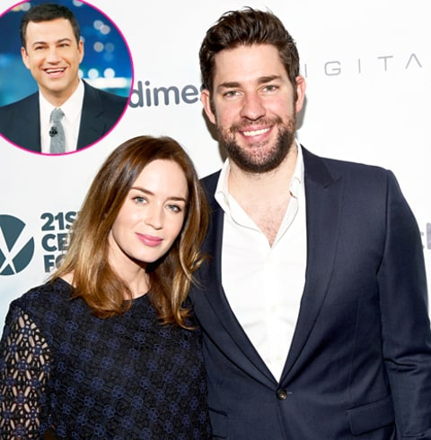 Emily Blunt, John Krasinski and Jimmy Kimmel