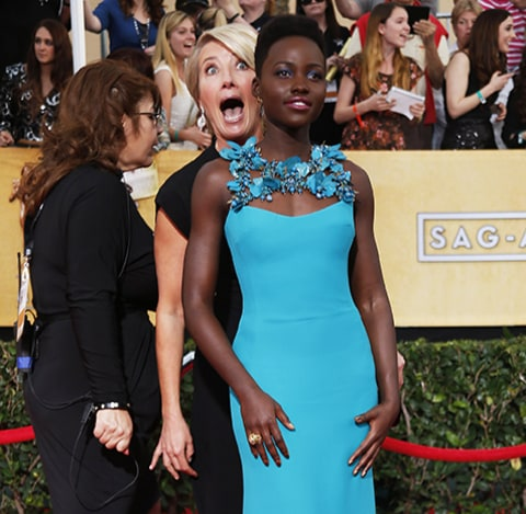 Emma Thompson and Lupita Nyong'o
