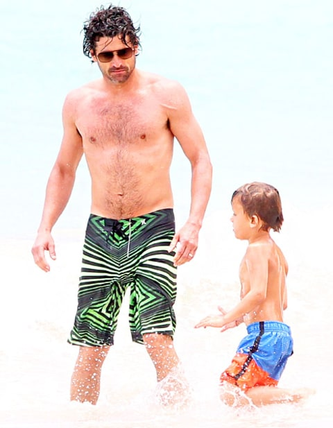 Patrick Dempsey and son