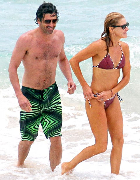 Patrick Dempsey and wife