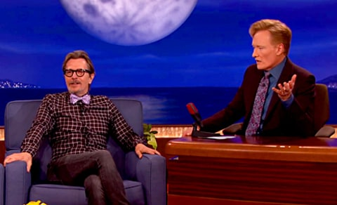 Gary Oldman and Conan O'Brien