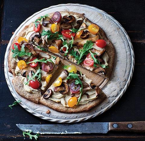 Gruyere, Wild Mushroom, And Arugula Pizza Recipe — Dishmaps