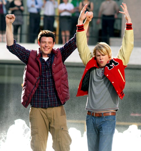 Cory Monteith and Chord Overstreet