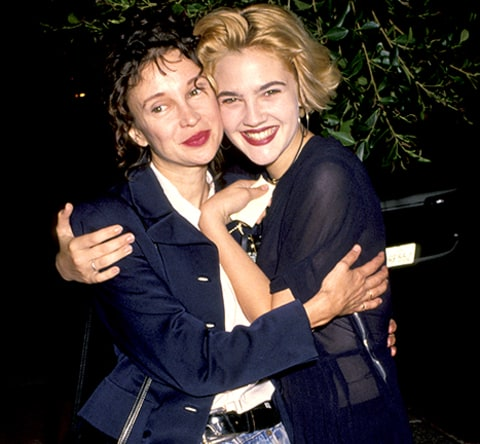 Jaid Barrymore and Drew Barrymore in 1991