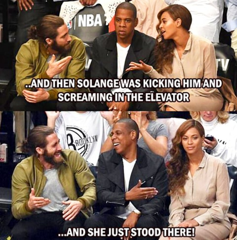Jake Gyllenhaal Jay Z and Beyonce Meme