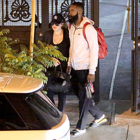 Khloe kardashian and james harden leave an intimate dinner at e p and