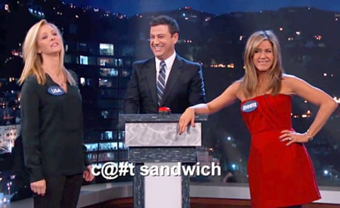 Jennifer Aniston, Lisa Kudrow and Jimmy Kimmel