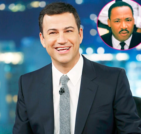 Jimmy Kimmel and Martin Luther King Jr