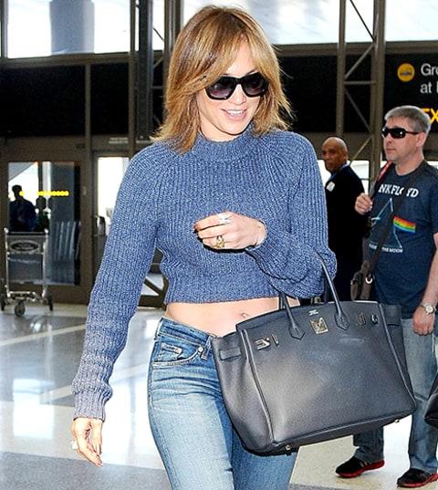 Jennifer Lopez Debuts Short Hair Gets Confetti Bombed