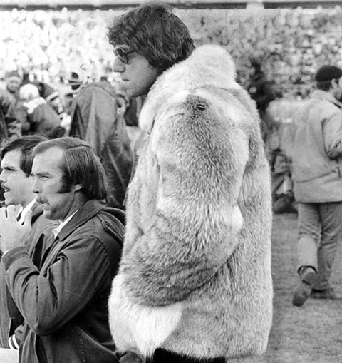 Joe Namath Fur Coat 1973