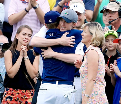 Jordan Spieth with family
