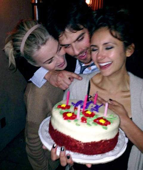 Julianne Hough, Nina Dobrev and Ian Somerhalder