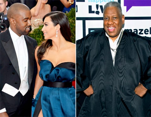 Kanye West, Kim Kardashian and Andre Leon Talley