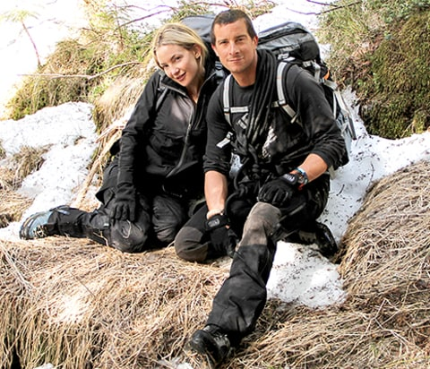 Kate Hudson and Bear Grylls