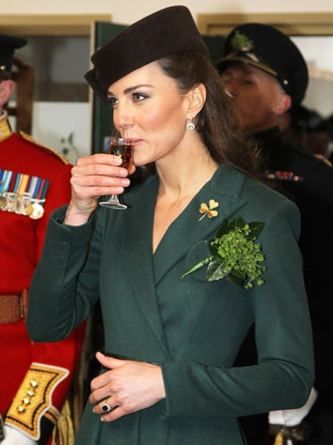 Kate Middleton sipping a shot