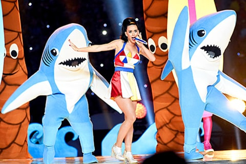 Katy Perry and her sharks