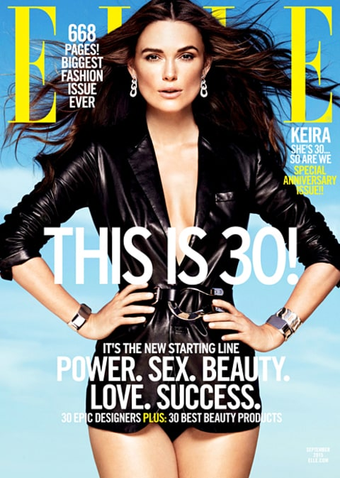 Keira Knightley on Elle Cover