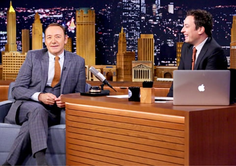 Kevin Spacey and Jimmy Fallon