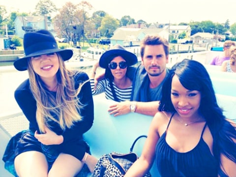 Khloe Kardashian, Kourtney Kardashian, Scott Disick and Malika