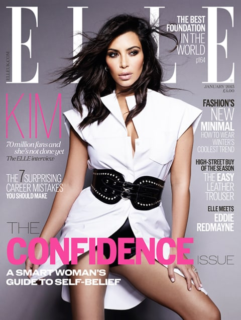 Kim K Elle UK Cover