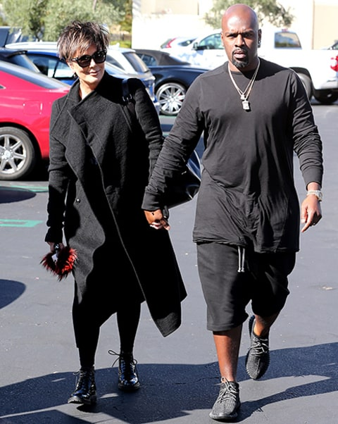 Kris Jenner and boyfriend Corey Gamble arrive