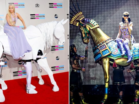 Lady Gaga and Katy Perry Horse