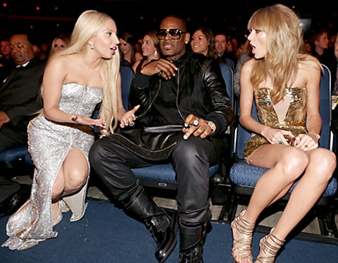 Lady Gaga and Taylor Swift at the AMAs