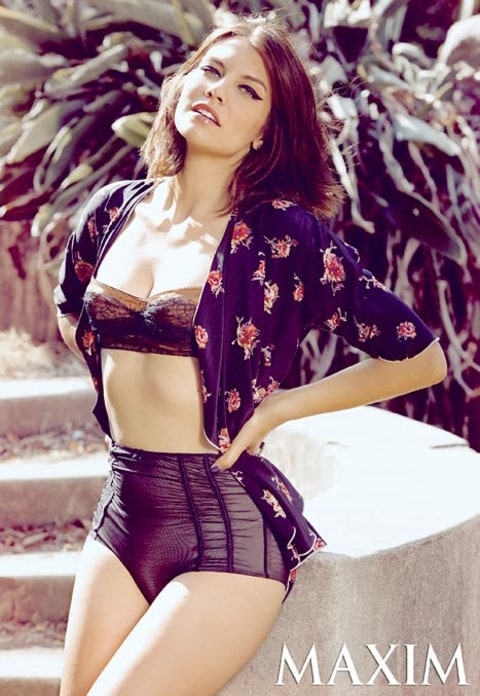 lauren cohan in maxim