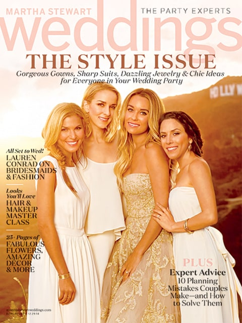 Lauren Conrad Martha Stewart Weddings Cover