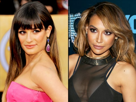 Lea Michele and Naya Rivera Feud Hot Stuff Video